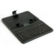 """Обложка-чехол для планшета 7"""" с USB клавиатурой HQ-Tech LH-SKB0703U Black, microUSB, 2 sides PU"""