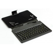 "Tablet Case with keyboard HQ-Tech LH-SKB0702U, 7"", Slim, Plastic+PU, silicone keyboard"