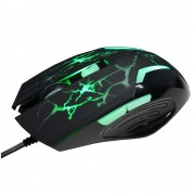 Gaming Mouse A-Jazz Spider Hero, 6D, Optical 2400DPI, Green LED