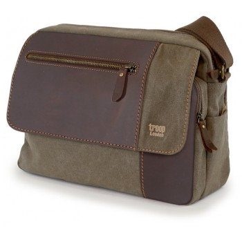 Laptop Bag Troop London TRP0278 Brown (canvas, leather)