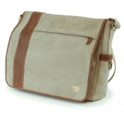 Laptop Bag Troop London TRP0305 Brown (canvas, leather)