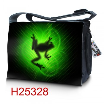 """Messenger bag with picture for laptop 15.6"""" HQ-Tech, thousand photos"""
