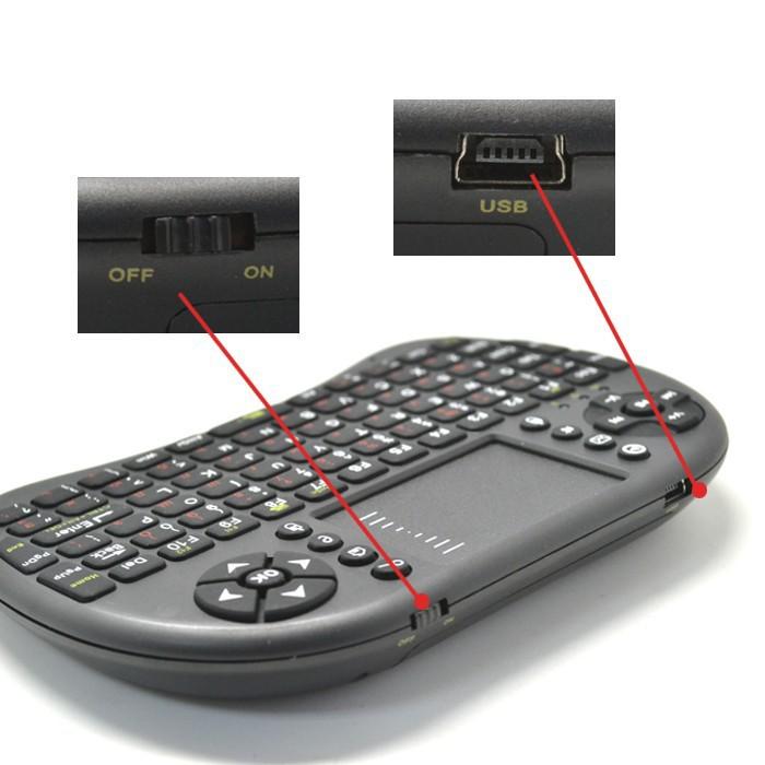 Rii mini i8 keyboard RT-MWK08, [2 4G] touchpad for Smart TV, HTPC